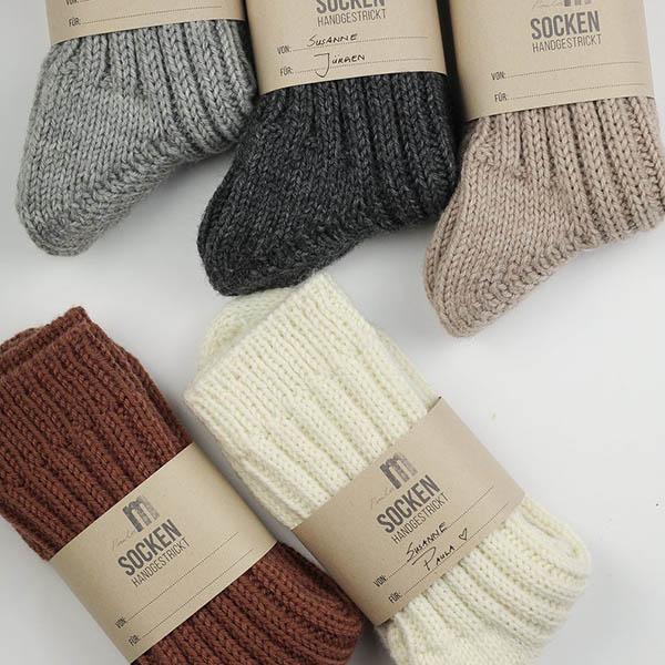 Einfache Socken stricken