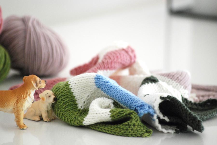 Babydecke-zu-Weihnachten-stricken