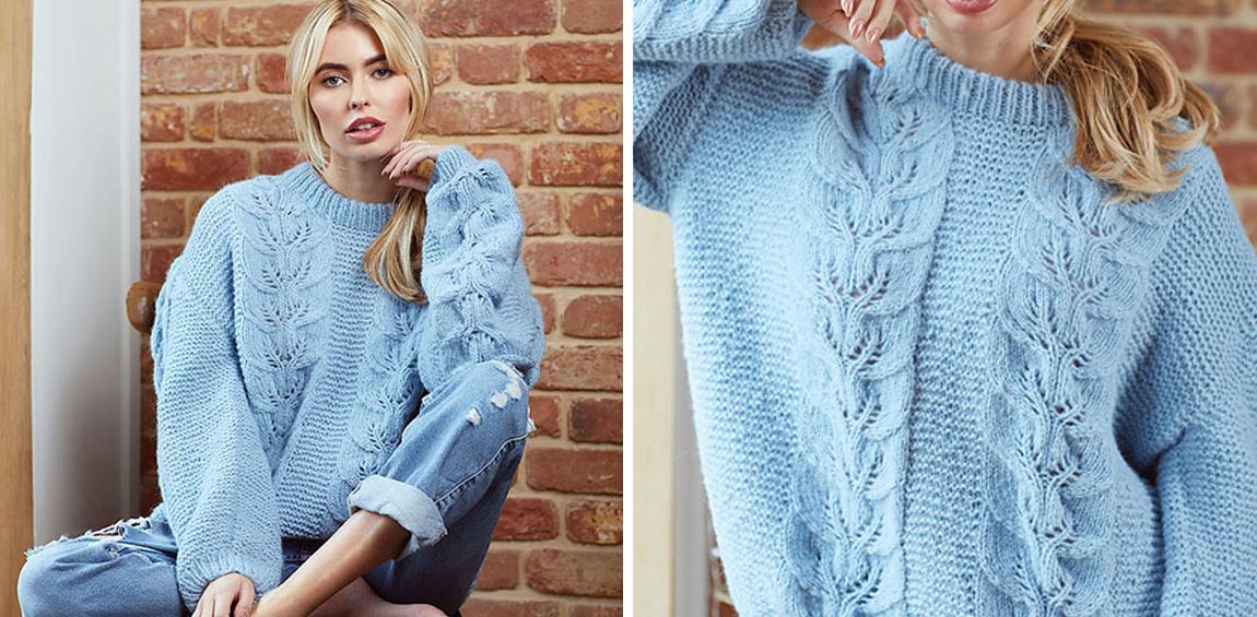 Pullover mit Zopfmuster stricken