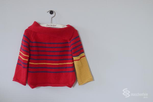 Raglan von oben für Kinder stricken