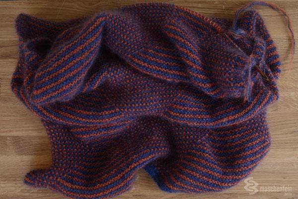 Schal aus Silkhair stricken