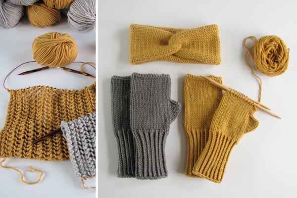 Auf den Nadeln Stricken Handschuhe stricken