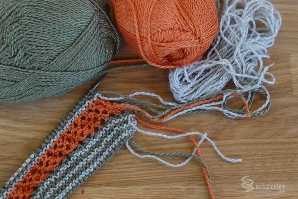 Knit Along Quicksilver Tuch stricken