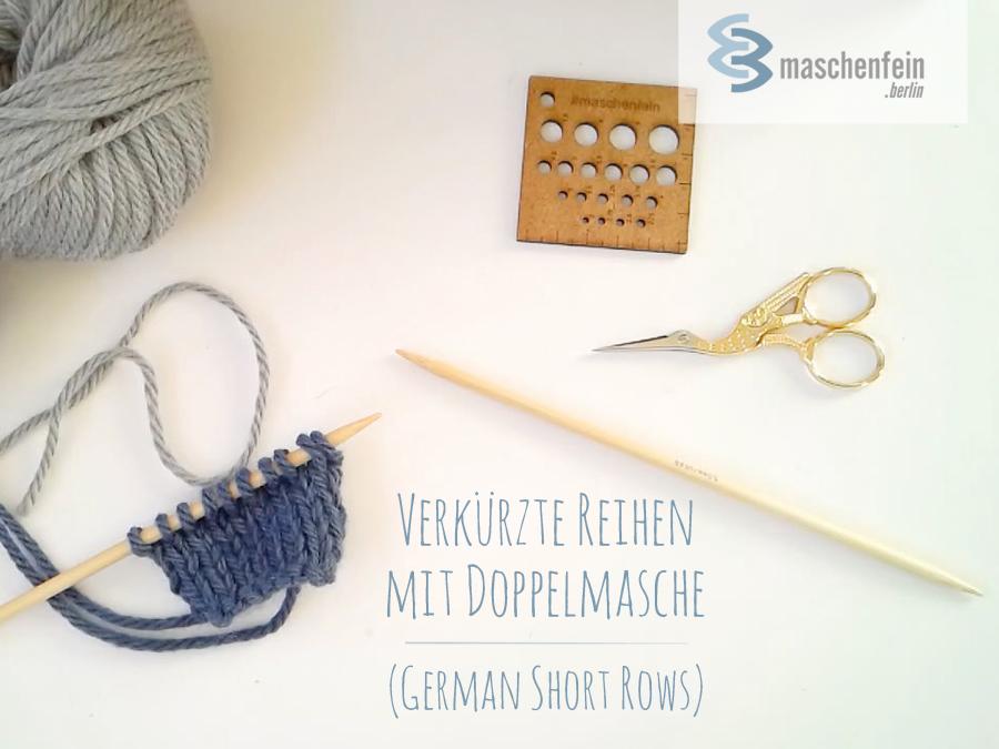 Verkürzte Reihen mit Doppelmasche (German Short Rows)-TitelBlog