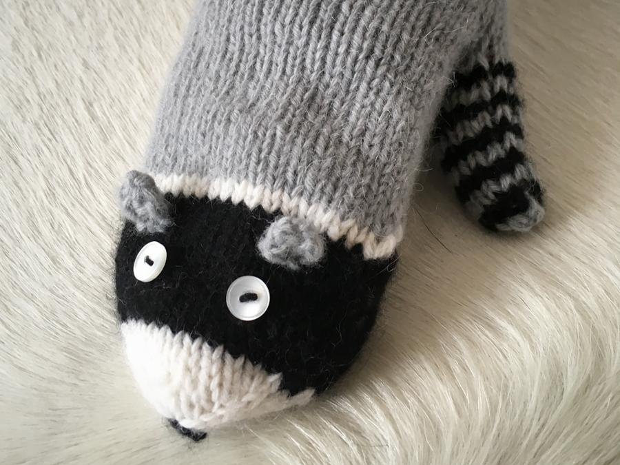 Waschbär-Handschuh-stricken