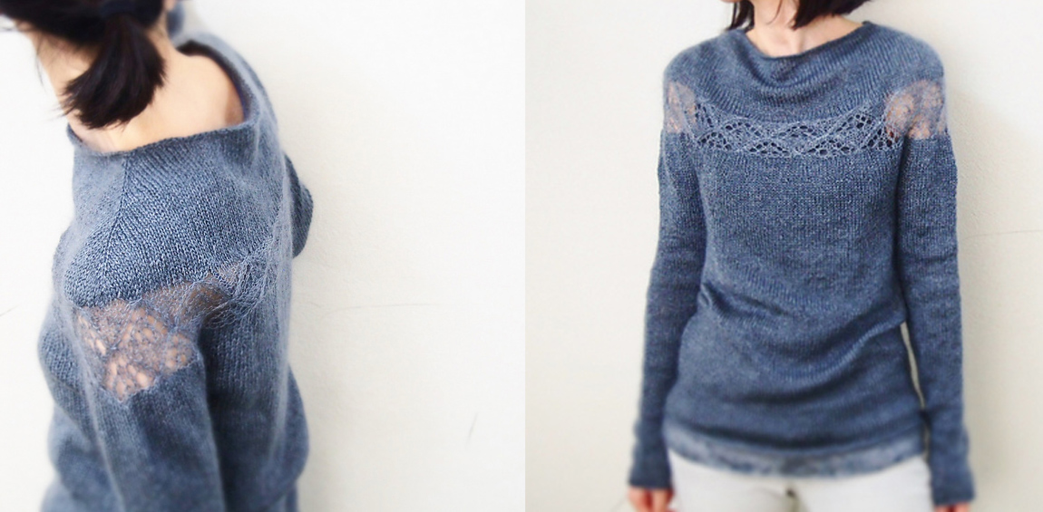 Pullover mit feinem Lacemuster