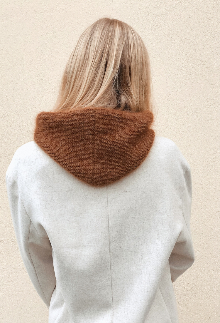 the simple knit hood