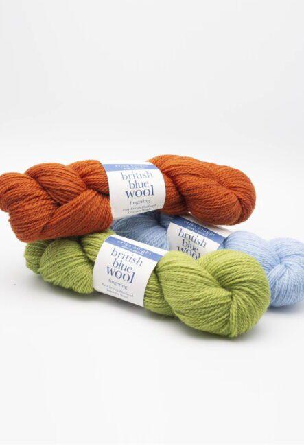 British Blue Wool Fingering